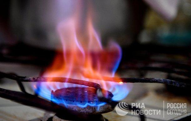Конфорка газовой плиты в жилом доме города Симферополь