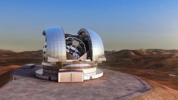 Чрезвычайно большой телескоп в представлении художника