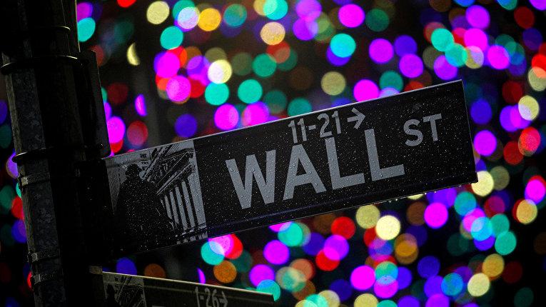 Указатель на Уолл-Стрит в Нью-Йорке