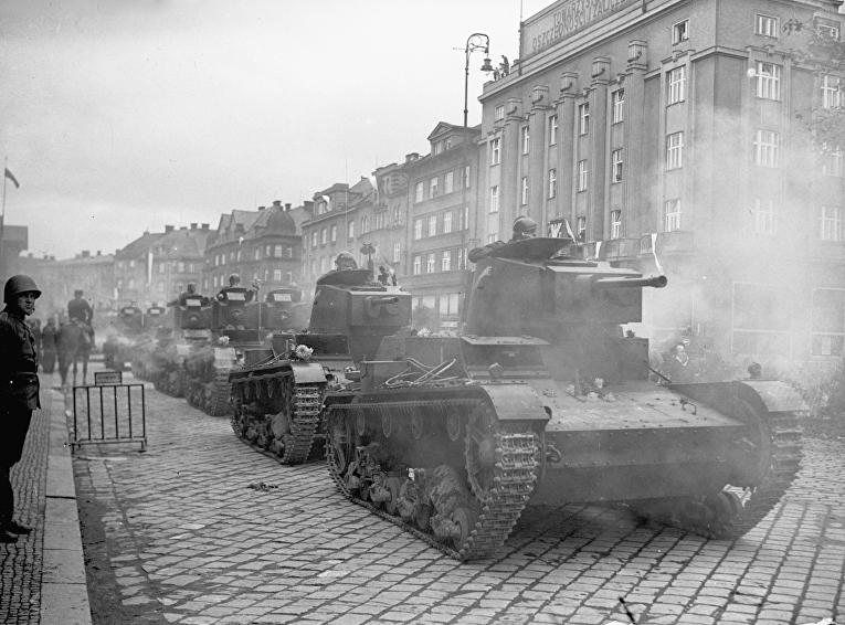 Польская армия производит захват Тешинской Силезии в 1938 году