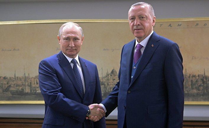"""Встреча Путина и Эрдогана в день запуска """"Турецкого потока"""""""