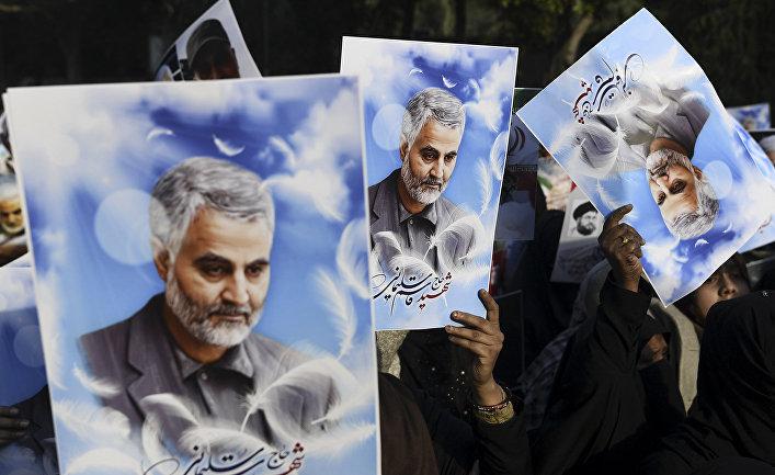 Сторонники убитого иранского генерала Касема Сулеймани