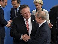 Поездка президента РФ В. Путина в Берлин для участия в Международной конференции по Ливии
