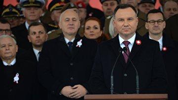 Марш в Варшаве в честь 100-летия независимости Польши