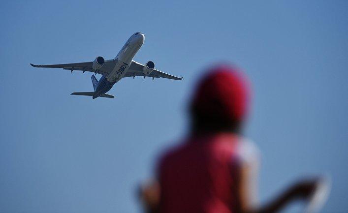 Полет дальнемагистрального широкофюзеляжного самолёта Airbus A350-900