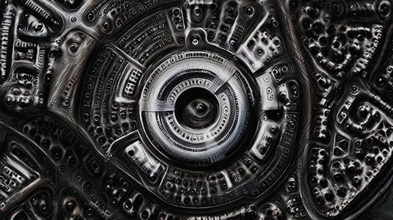 Изображение, созданное при помощи искусственного интеллекта Google DeepDream