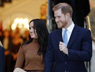 Британский принц Гарри и Меган, герцогиня Сассекская в Лондоне