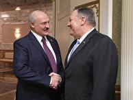 Встреча Александра Лукашенко и Майка Помпео 1 февраля 2020 года