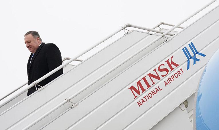 Госсекретарь США Майк Помпео прибыл в Минск
