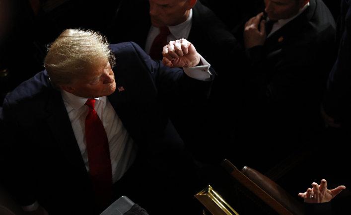 4 февраля 2020. Дональд Трамп выступает с обращением к нации