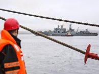 Возвращение отряда кораблей Северного флота с учений в Арктике