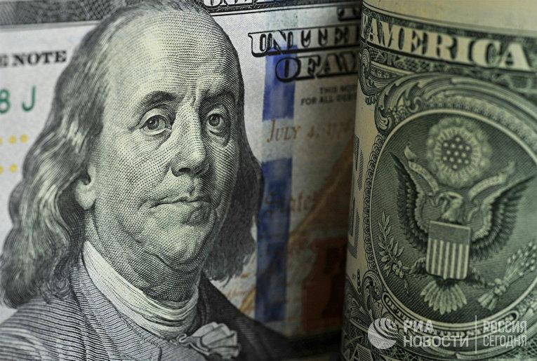 Фрагмент банкноты номиналом 100 долларов США