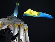 Участники акции, посвященной 5-й годовщине начала событий на Майдане, в Киеве. 21 ноября 2018