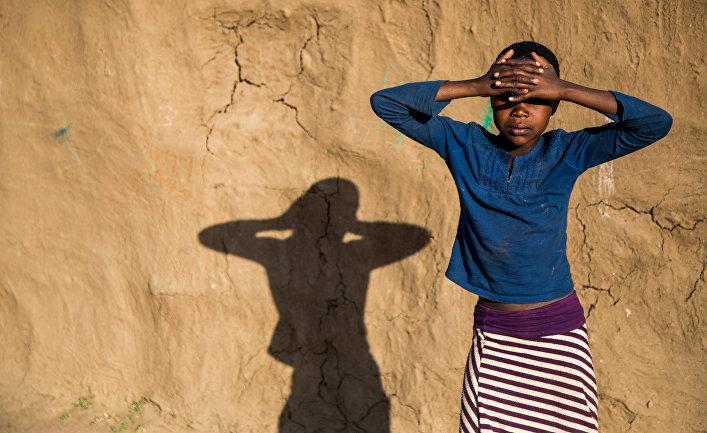 Деревня племени Масаи в Кении