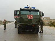 Российская военная полиция в освобожденном сирийском городе Маарет-Нууман
