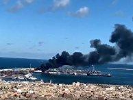 В Триполи взорвали турецкий военный корабль