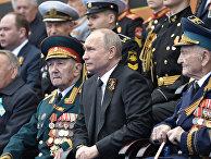 Президент РФ В. Путин на военном параде в честь 74-й годовщины Победы в ВОВ