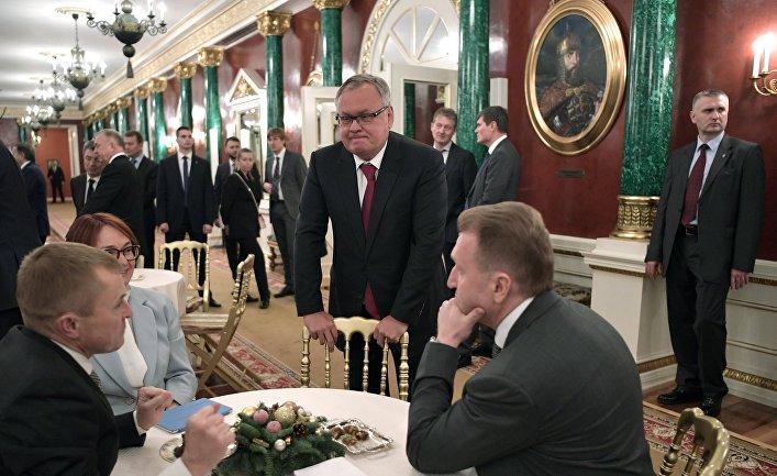 Президент РФ В. Путин провел встречу с представителями российского бизнеса