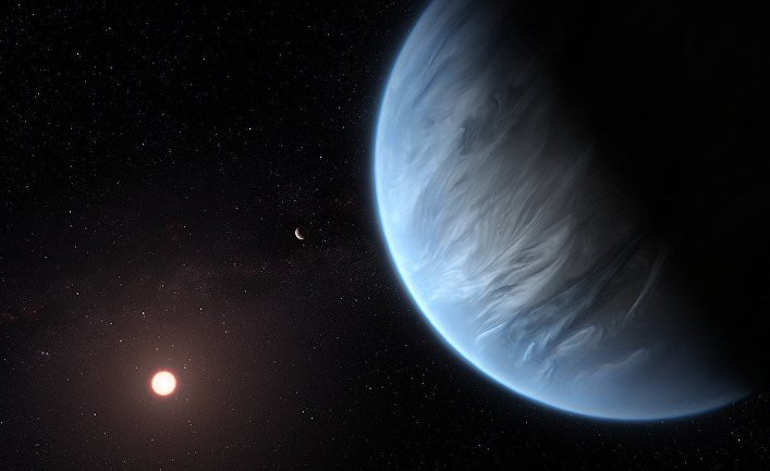 Художественное представление планеты K2-18 b