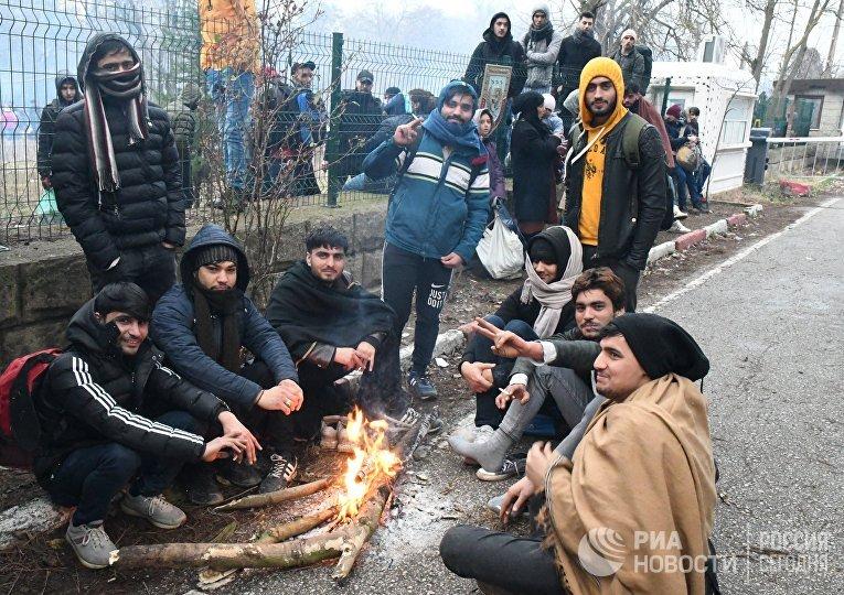 Ситуация с беженцами на границе Турции и Греции