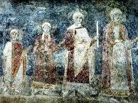 Фреска в Софийском соборе в Киеве