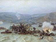 Русско-турецкая война. Переправа русской армии через Дунай у Зимницы 15 июня 1877 года