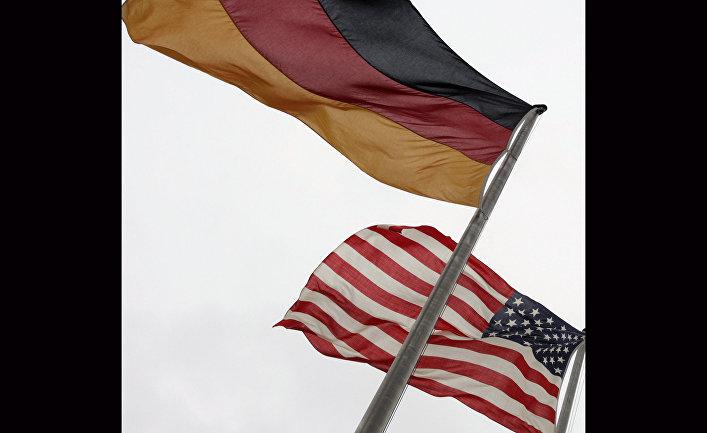 Флаги США и Германии