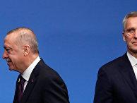 Генеральный секретарь НАТО Йенс Столтенберг и президент Турции Реджеп Тайип Эрдоган