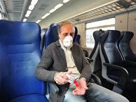 Пассажир поезда во Флоренции, Италия