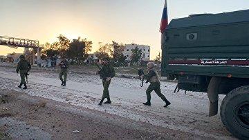 Российская военная полиция в сирийской провинции Идлиб