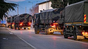 Военный транспорт в Бергамо, Италия