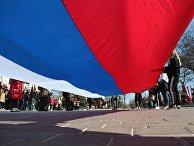 Флешмоб, посвященный шестой годовщине воссоединения Крыма с Россией