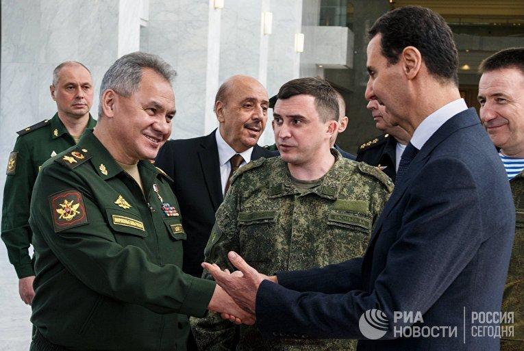 Рабочий визит министра обороны РФ С. Шойгу в Сирию