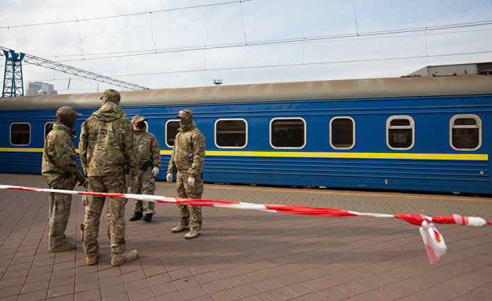 Прибытие спецпоезда Киев - Москва
