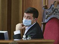 Президент Украины Владимир Зеленский во время парламентской сессии в Киеве, Украина