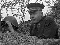 Маршал Советского Союза Семен Константинович Тимошенко на учениях под городом Перемышлем