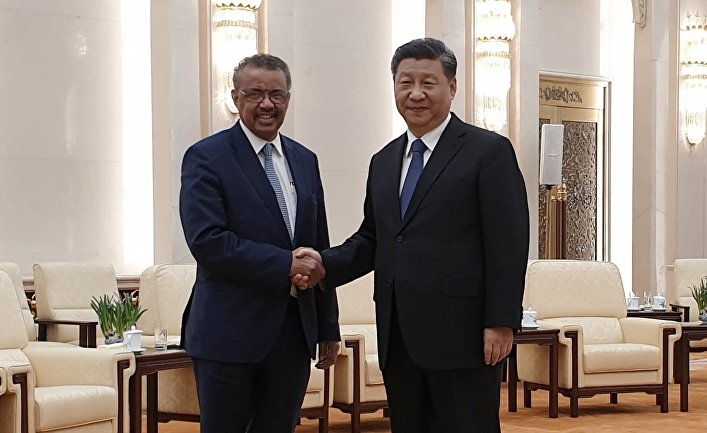 Глава ВОЗ Тедрос Адан Гебрейесус посетил Китай и встретился с председателем КНР Си Цзиньпином