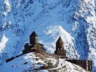 Село Гергети в Грузии