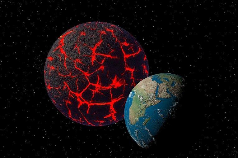 Земля и неизвестная планета