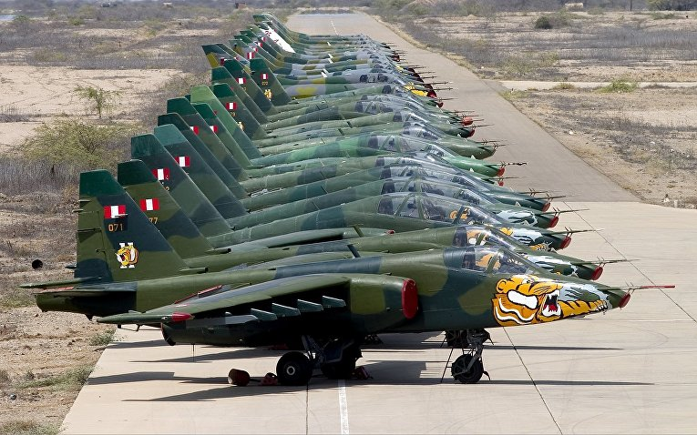 Самолеты Су-25 ВВС Перу