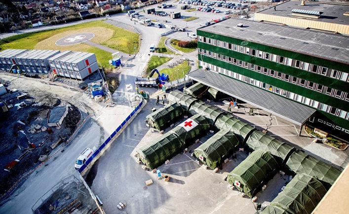 24 марта 2020. Полевой госпиталь для больных коронавирусом в Гётеборге, Швеция