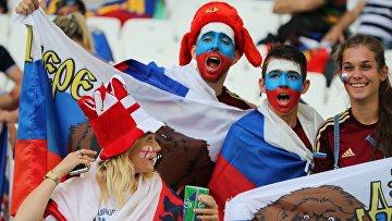 Болельщики перед началом матча группового этапа чемпионата Европы по футболу — 2016