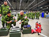 26 марта 2020. Военные разворачивают полевой госпиталь в Стокгольме, Швеция