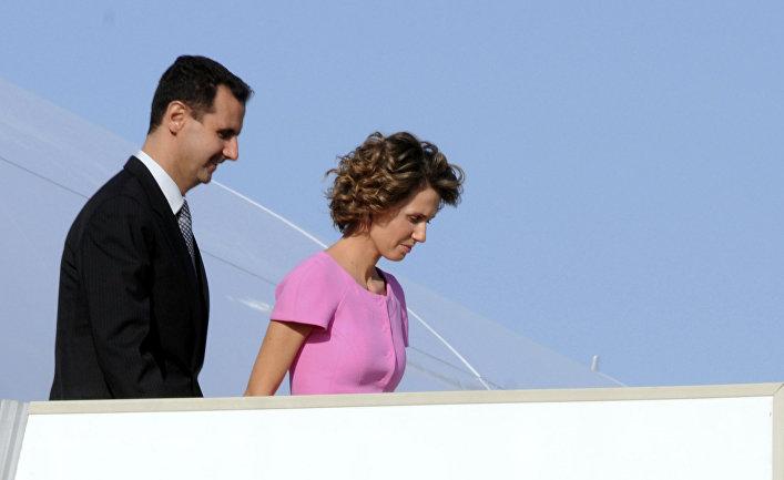 Президент Сирии Башар Асад с супругой Асмой Асад