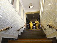 Дезинфекция на Киевском вокзале, Москва