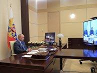 Президент РФ В. Путин провел совещание по вопросу санитарно-эпидемиологической обстановки 20 апреля 2020