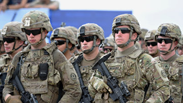 """Военнослужащие США на открытии международных военных учений """"Достойный партнер-2018"""" под эгидой НАТО в Грузии"""
