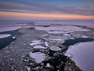 Закат на Баренцевом море