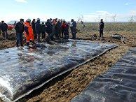 Ликвидация ЧС в связи с разливом нефтепродуктов в Норильске