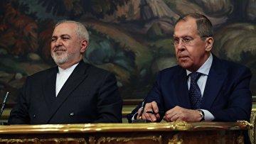 Встреча глав МИД РФ и Ирана С. Лаврова и Д. Зарифа